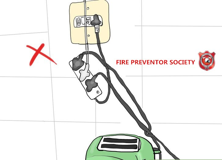DO NOT USE EXTENSION SOCKET WITH MANY ELECTRICAL PLUG !