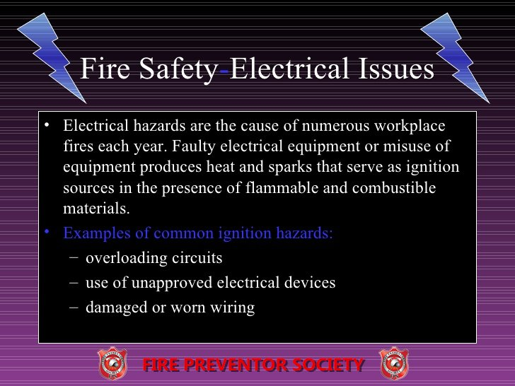 Fire Safety Electrical Issues