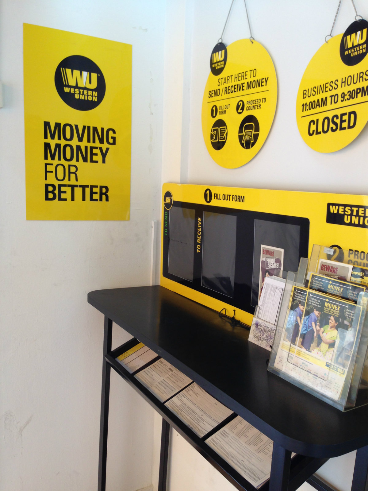 Western Union Acrylic Signage Singapore Supplier Supply Led Signboard Installation Dsign Solutions Pte Ltd