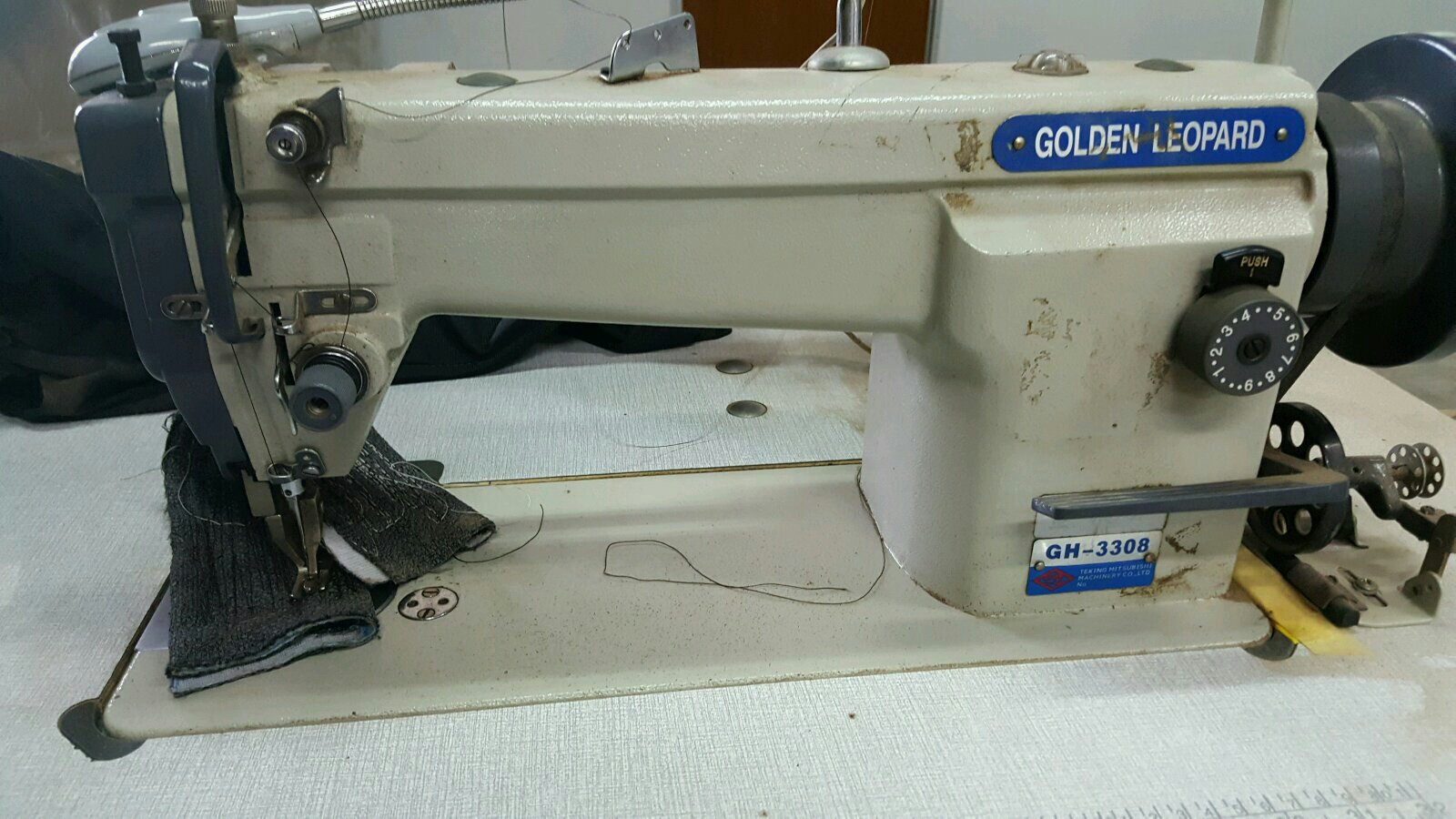 At Area Johor Senai Repai Golden Heavy Duty Lock stitch Machine@@@