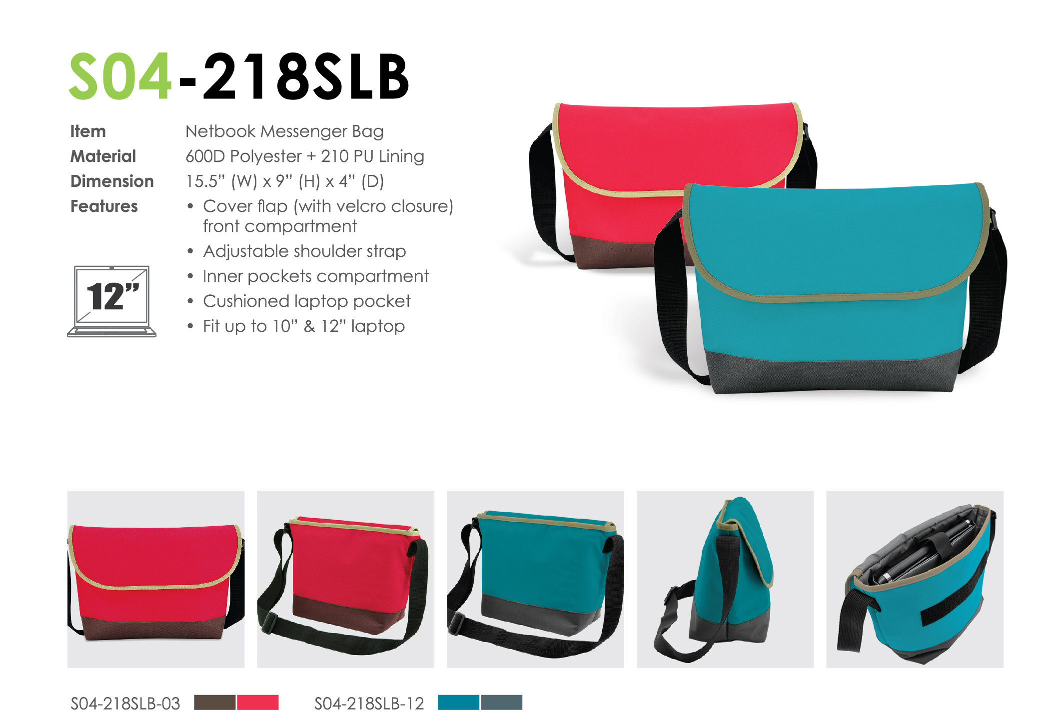 Netbook Sling Bag S04-218SLB