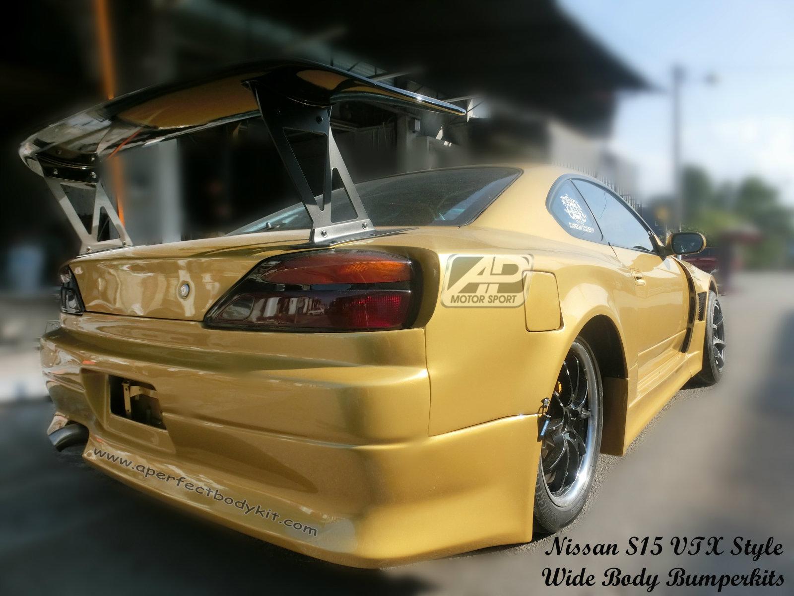 Nissan S15 VTX Style Wide Body Bumperkits