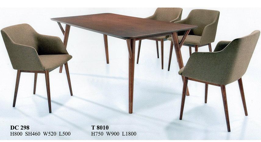 I02 dining set wood johor bahru jb malaysia furniture for Furniture johor bahru
