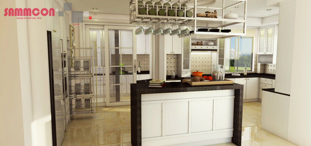 wet & dry kitchen design