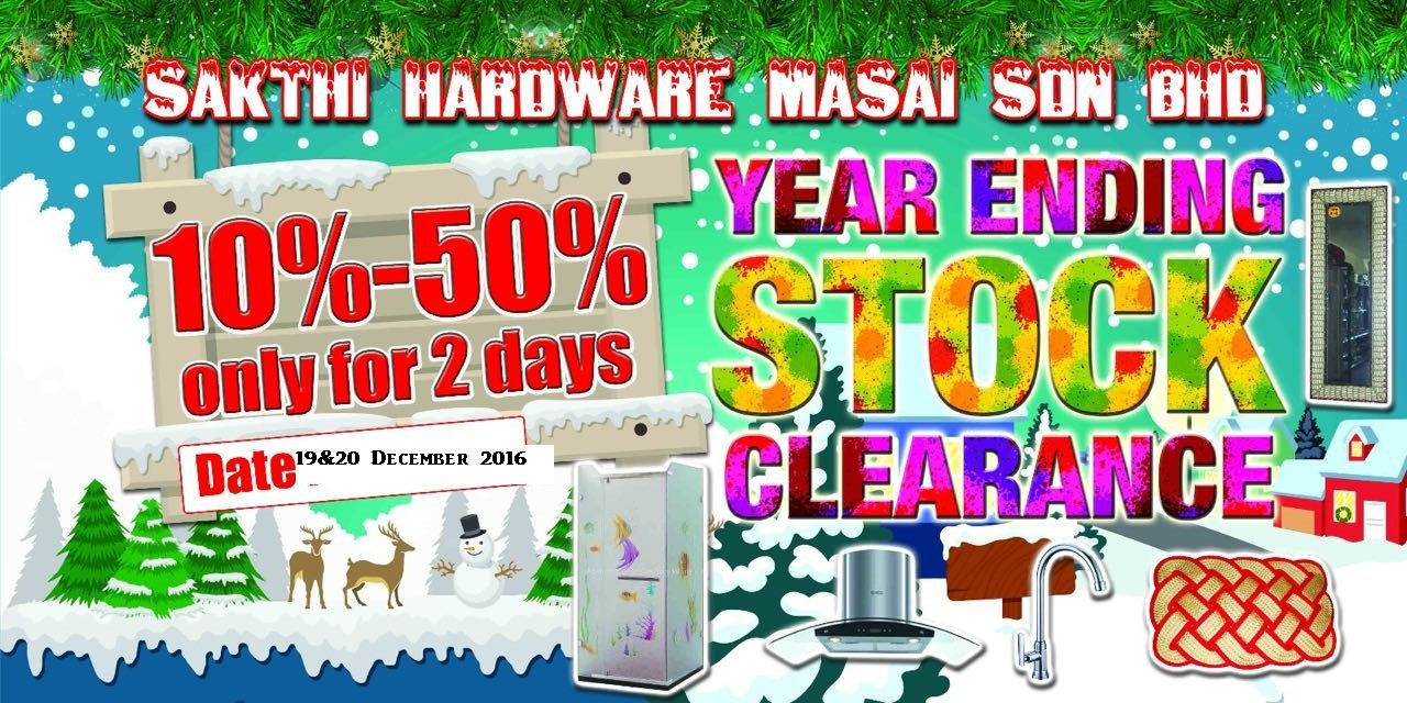 YEAR ENDING STOCK CLEARANCE