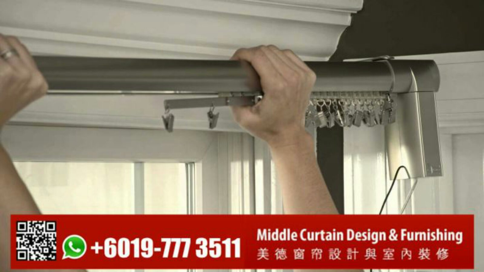 High Quality Type Motorized Curtain Rod - Johor Bahru