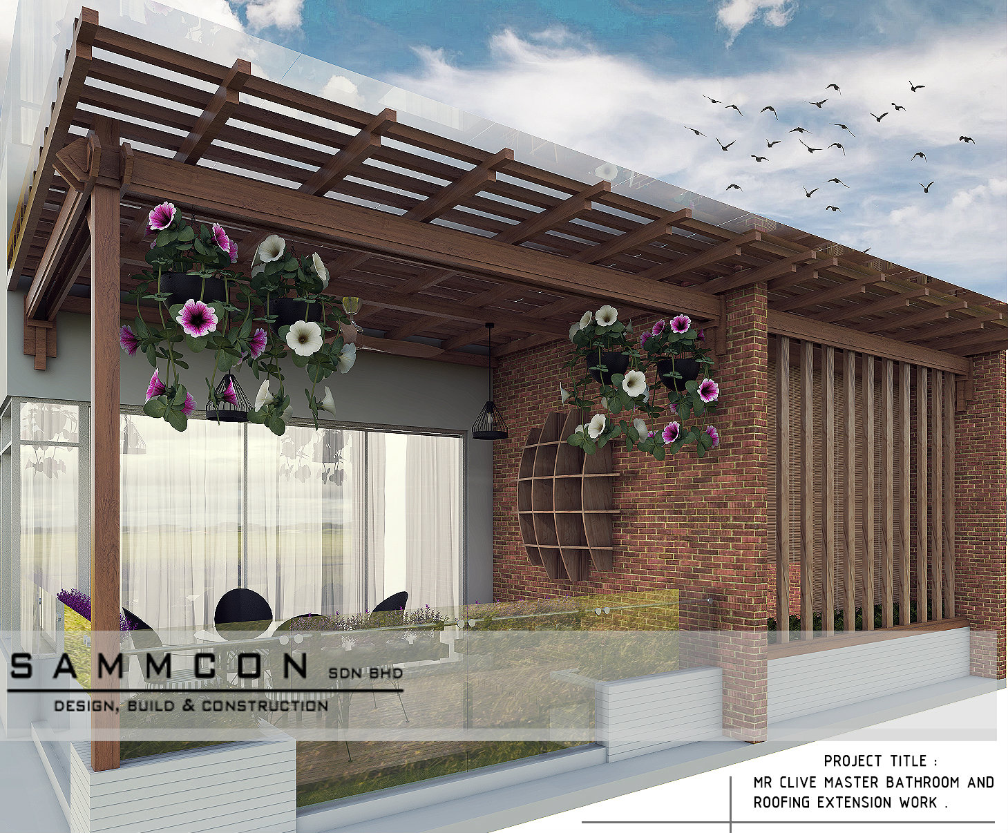 pergola design. balcony design.