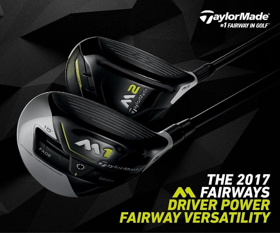 Taylormade M1 and Taylormade M2 Fairway Woods 2017 Series