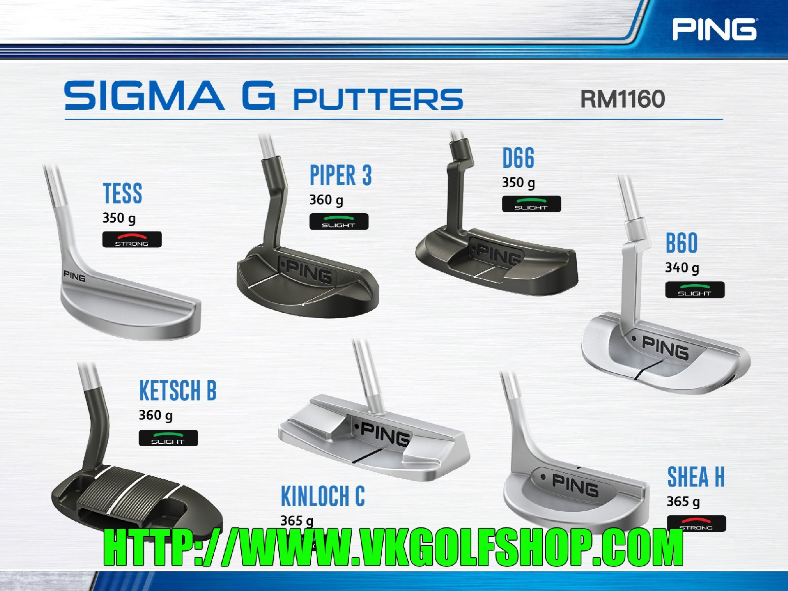 Ping SIGMA G PUTTER MODELS 2017 SERIES