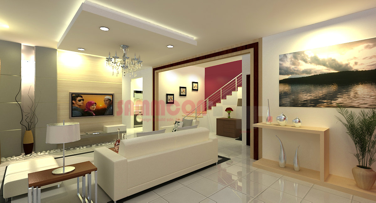modern living area design