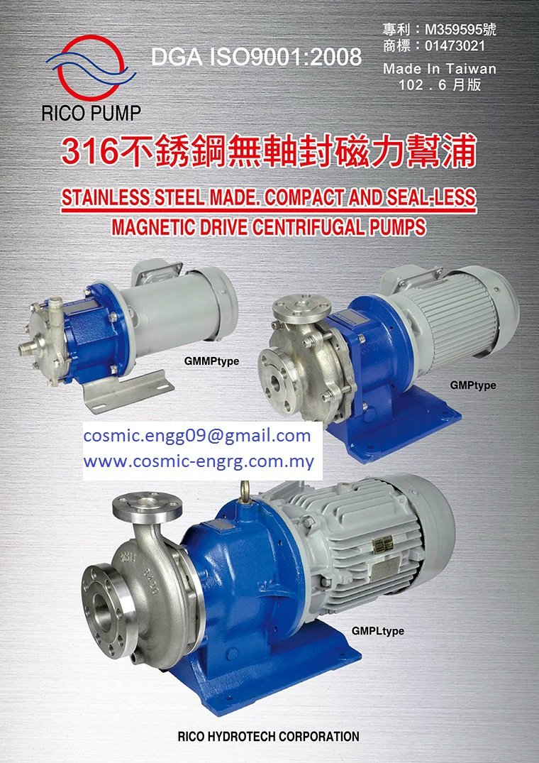 S/Steel Magnetic Pump equivalent to Sanwa Magnetic pump