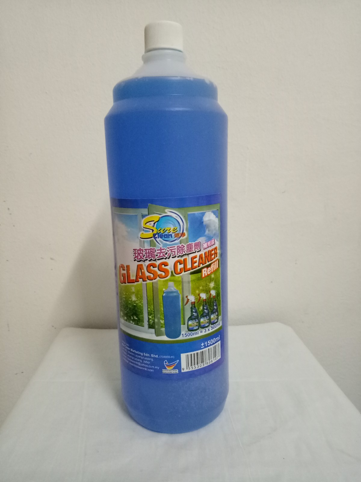 GLASS CLEANER REFILL 1500ML 6107