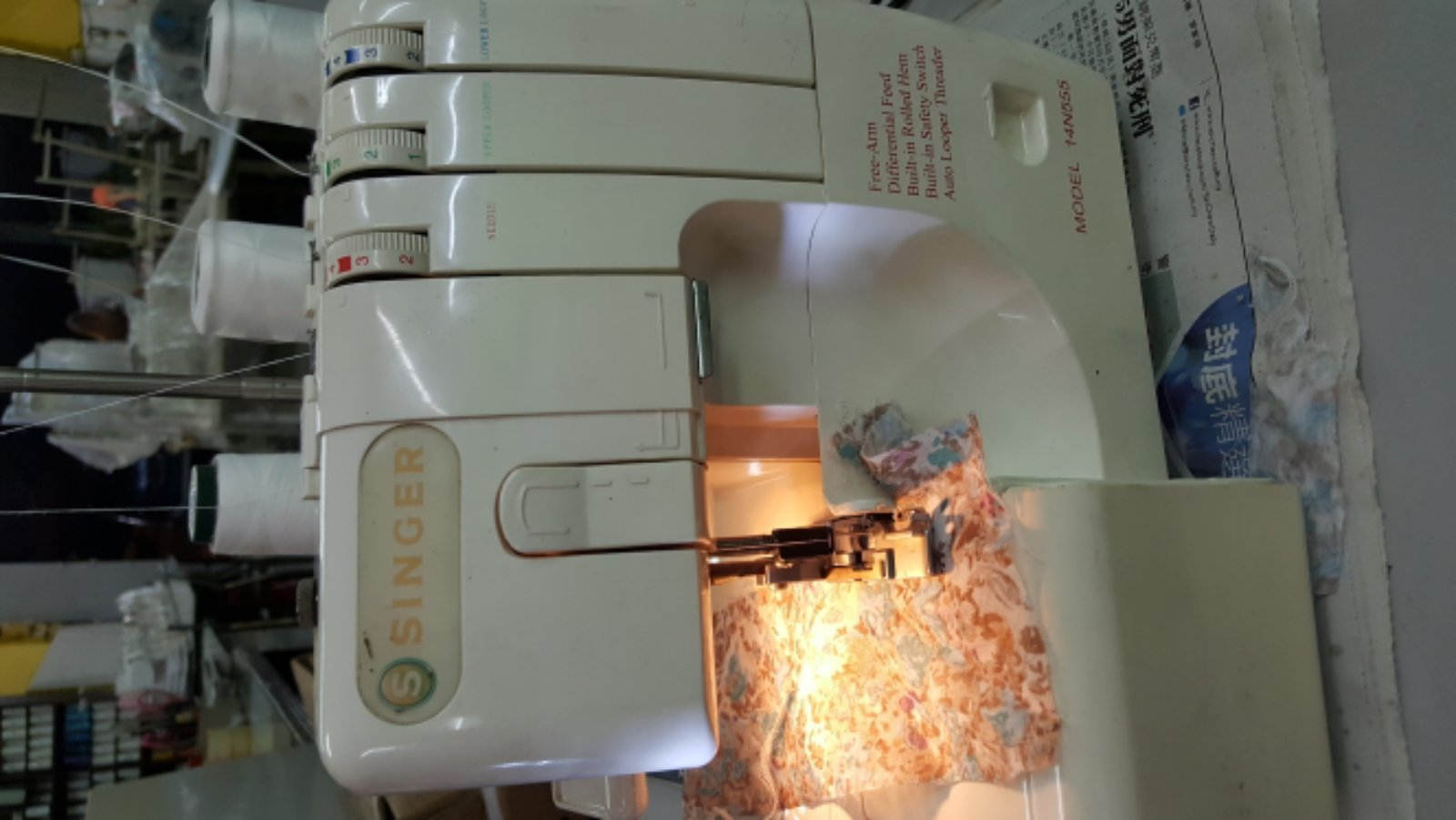 Service Singer Portable Overlock Sewing Machine!