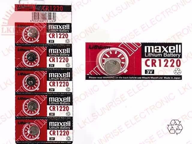 MAXELL LITHIUM COIN CELL BATTERY CR1220