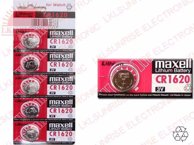 MAXELL LITHIUM COIN CELL BATTERY CR1620