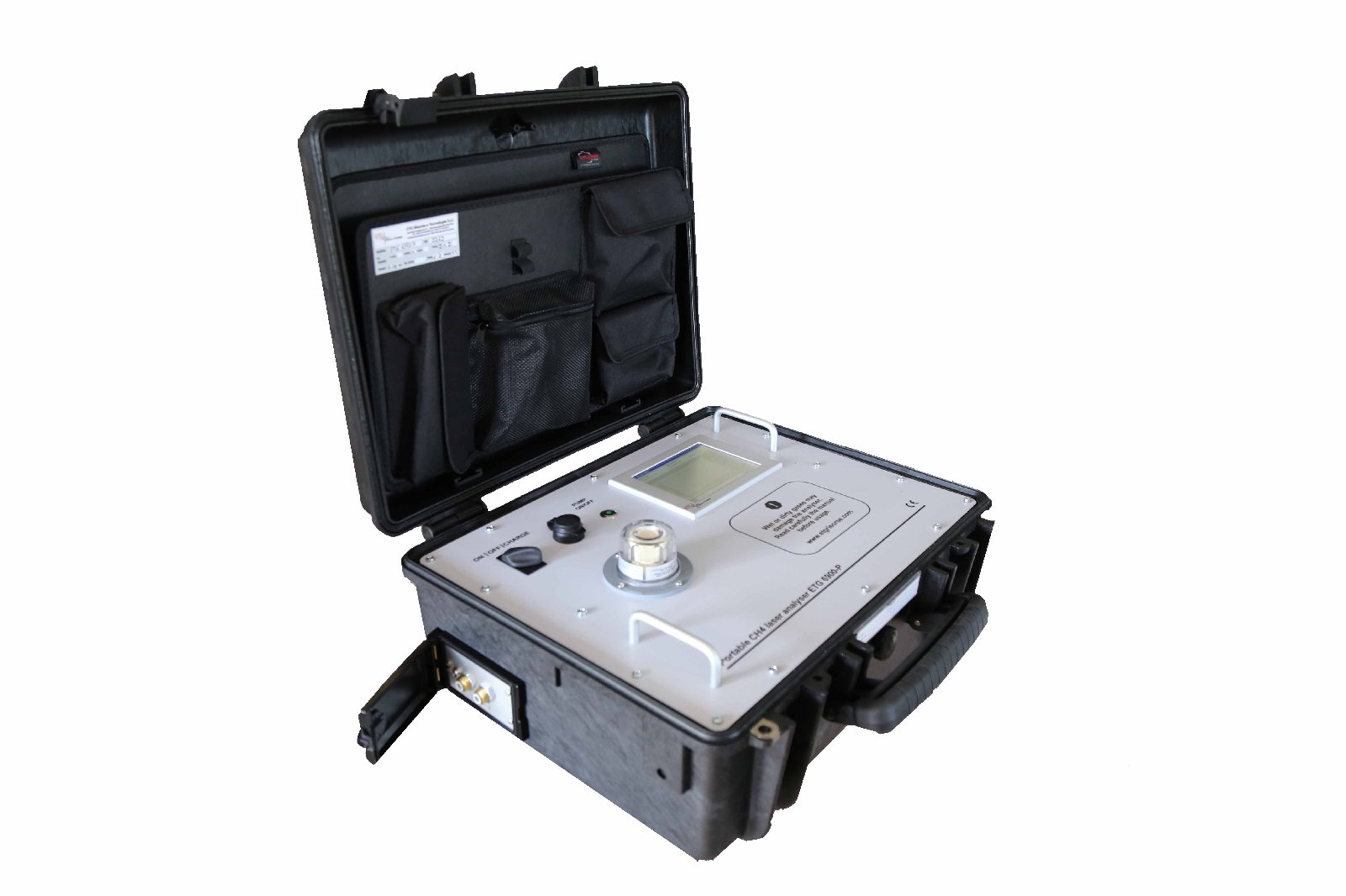 Portable Laser Gas Detector for Landfill Monitoring