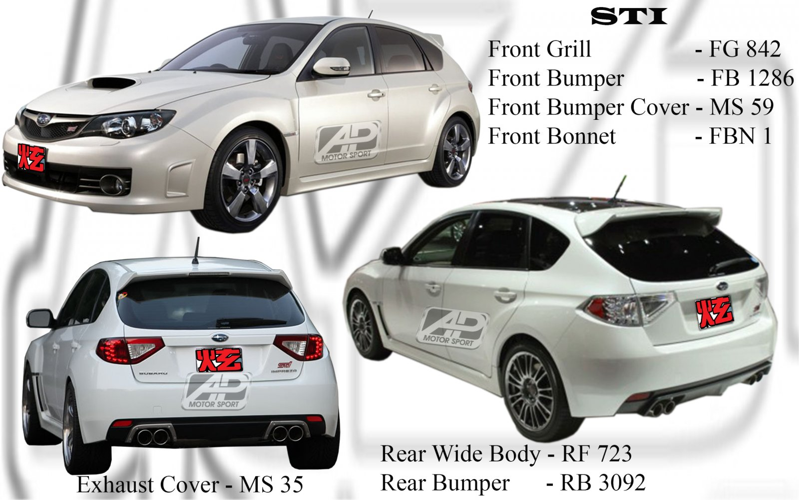 Subaru 2008 Version 10 STI Bodykits