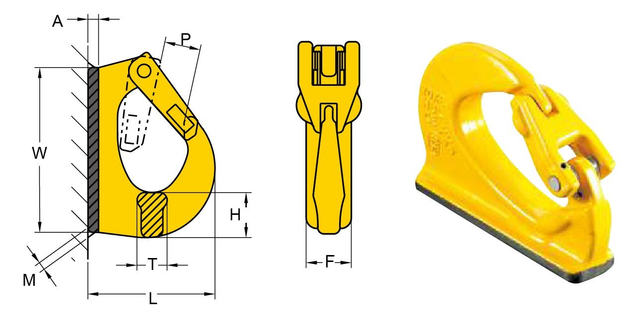 "EXCAVATOR WELD-ON HOOK, CODE ""YX"""