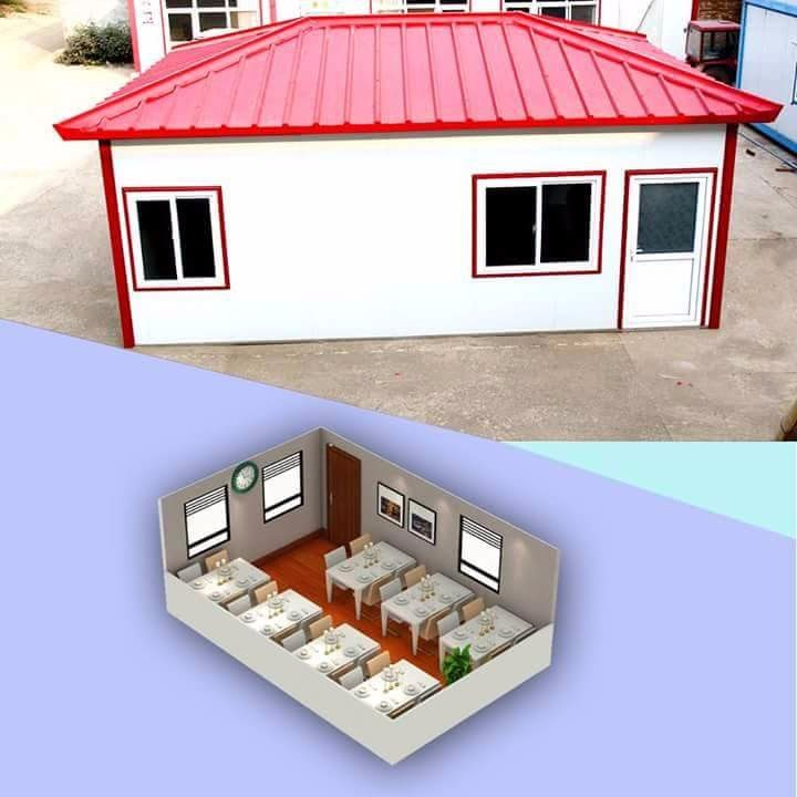 Prefab cabin house layout