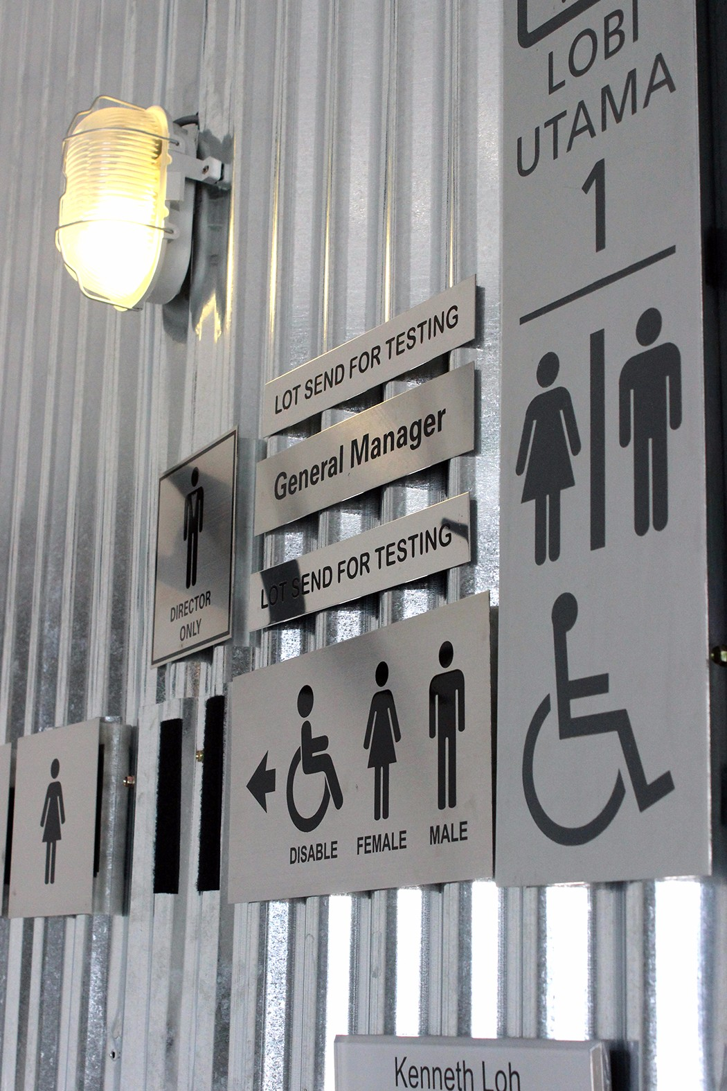 Stainless Steel Etching Toilet Sign