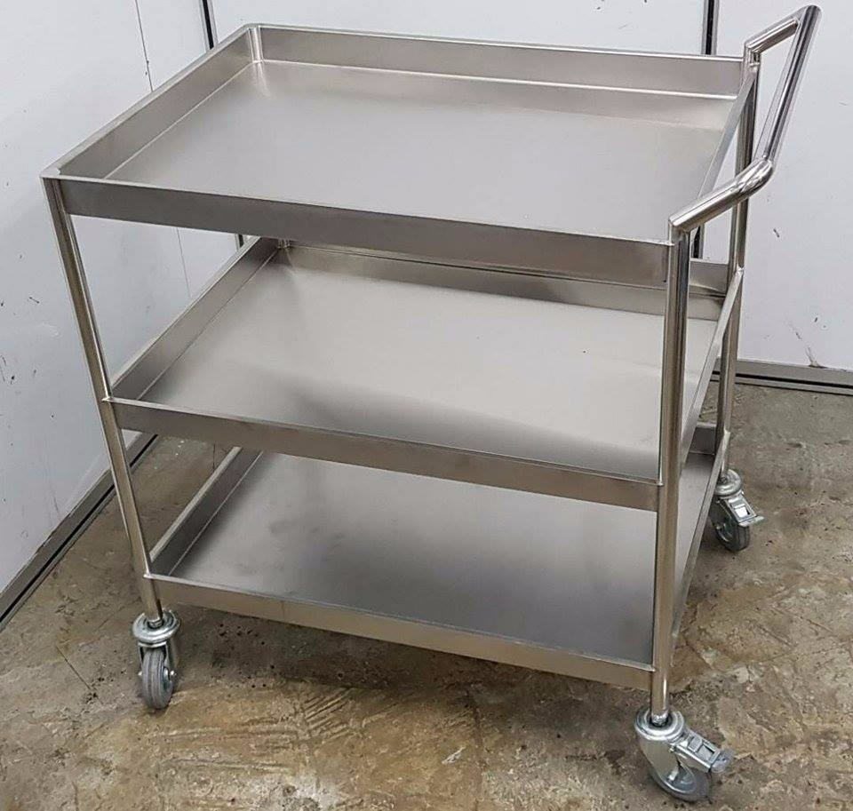 SST 304 3 Layers Trolley