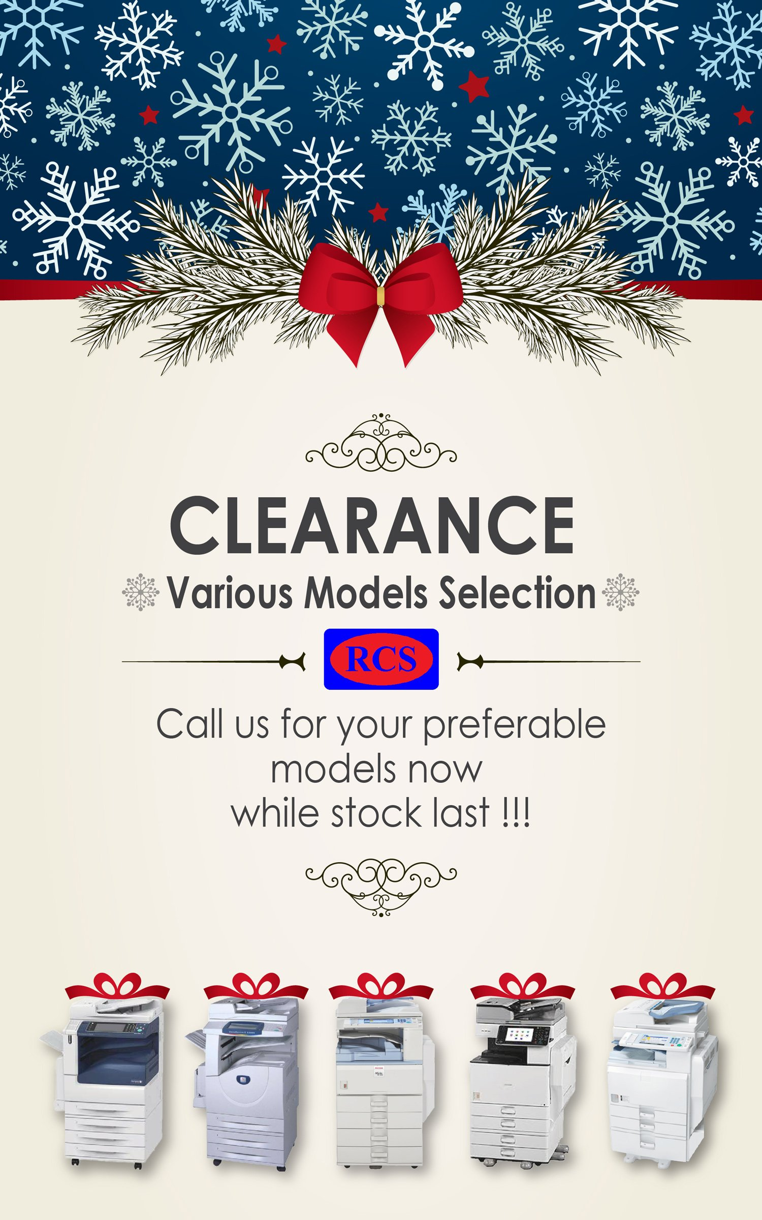 CHRISTMAS CLEARANCE!! RICOH/FUJI XEROX/CANON/MINOLTA 220V RECONDITIONED COPIER WHOLESALE