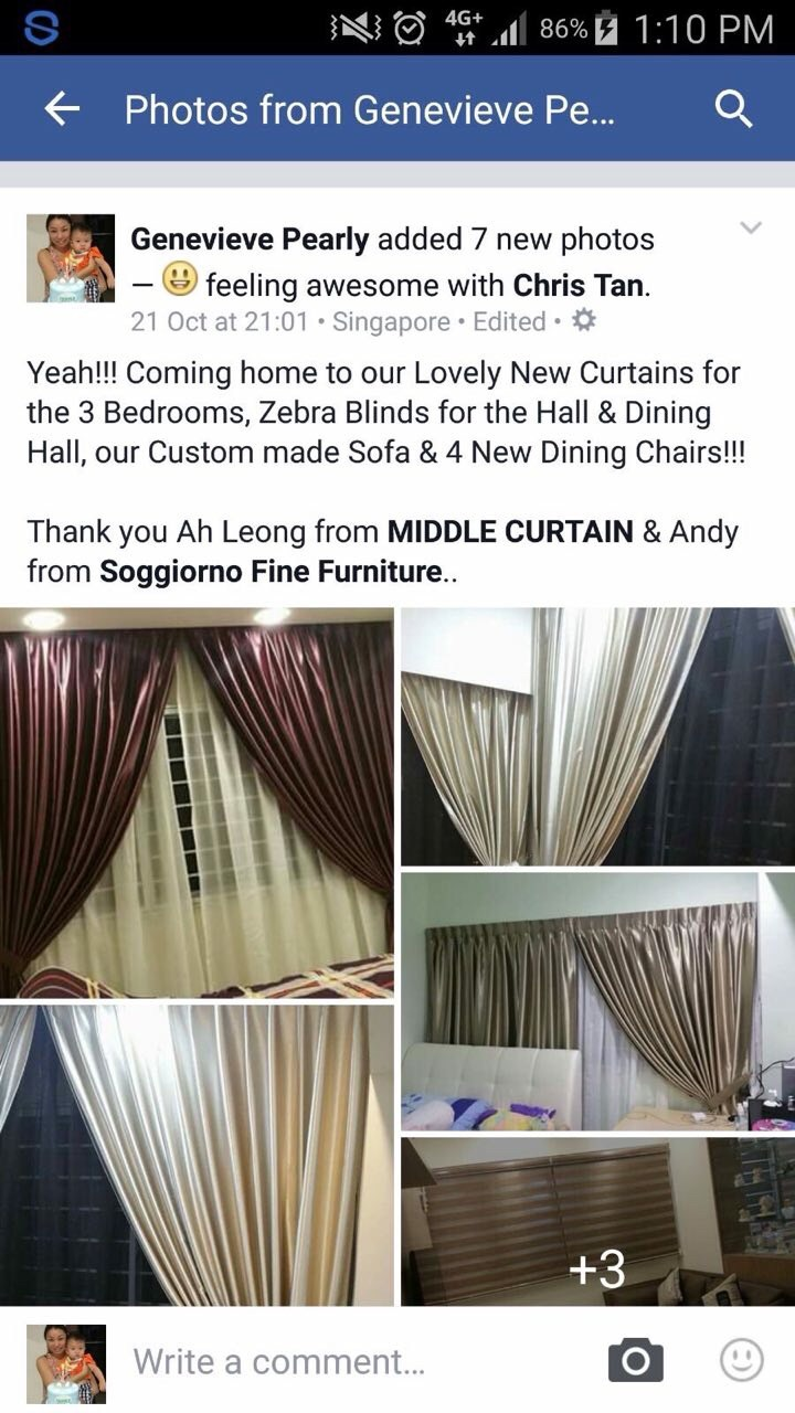 Curtain  Blinds For Windows Dressing : Jb & Singapore