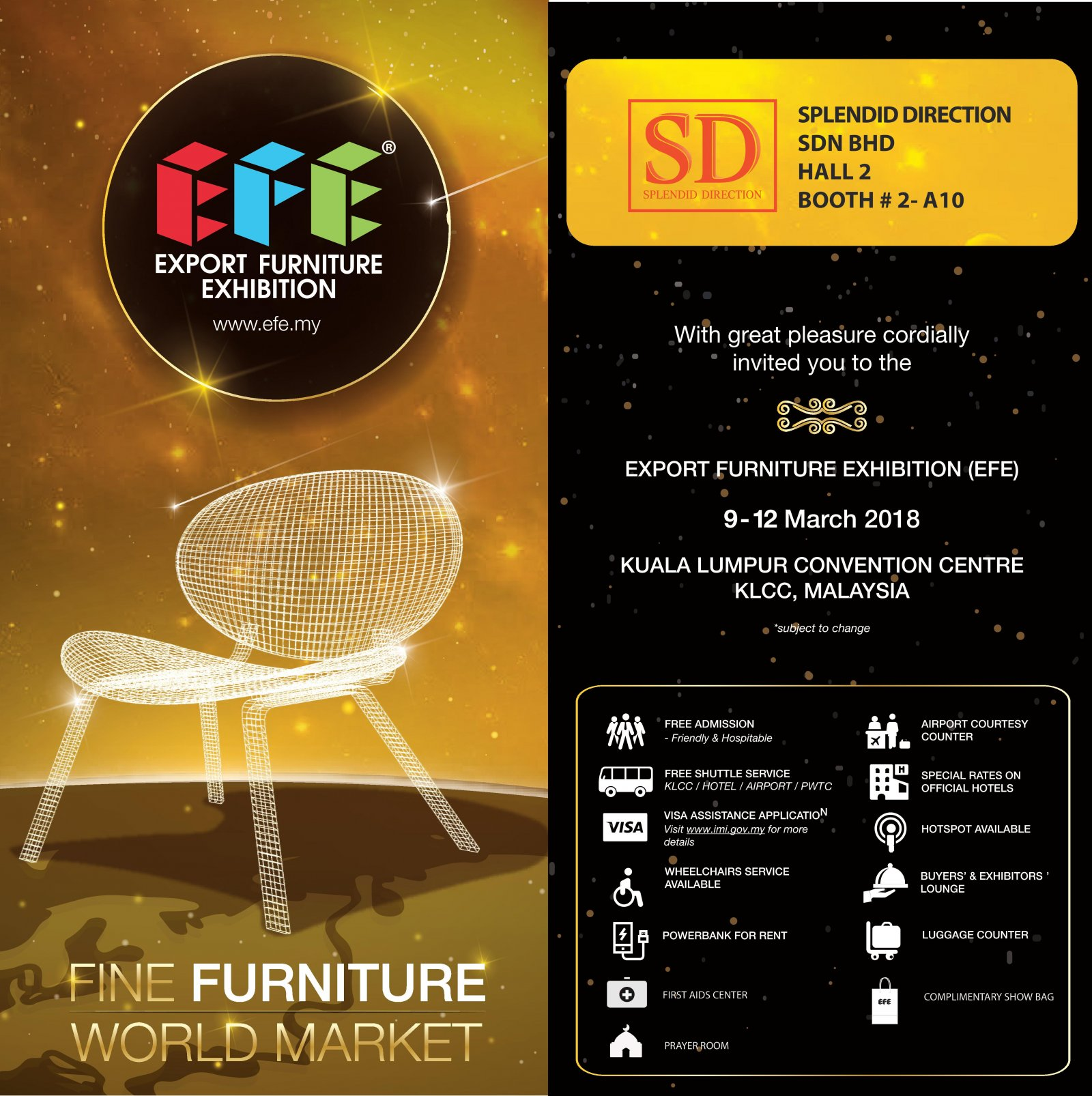 EFE 2018 @ KLCC Hall 2, Booth #2-A10