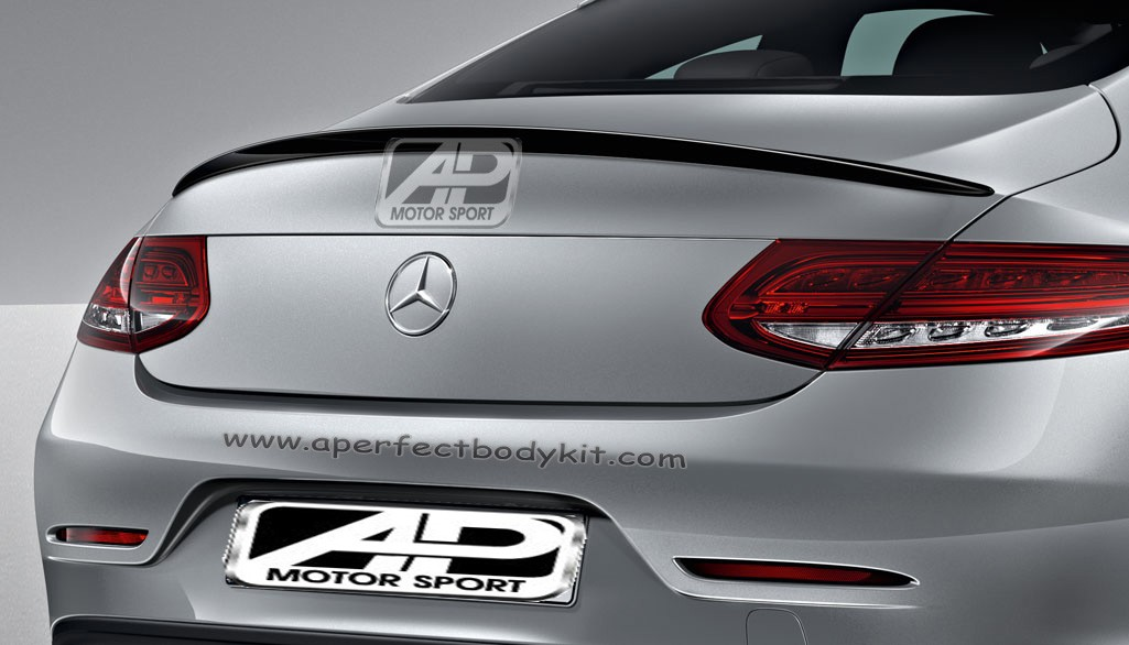 Mercedes C Class Coupe W205 Boot Lip Spoiler