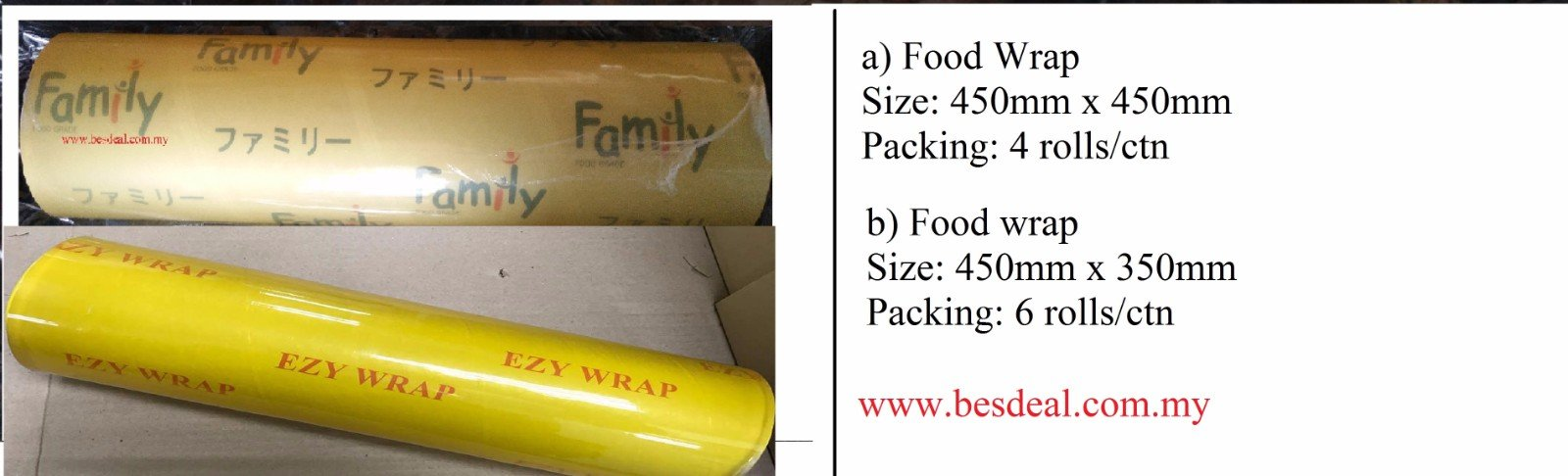 Food Grade Plastic Wrap