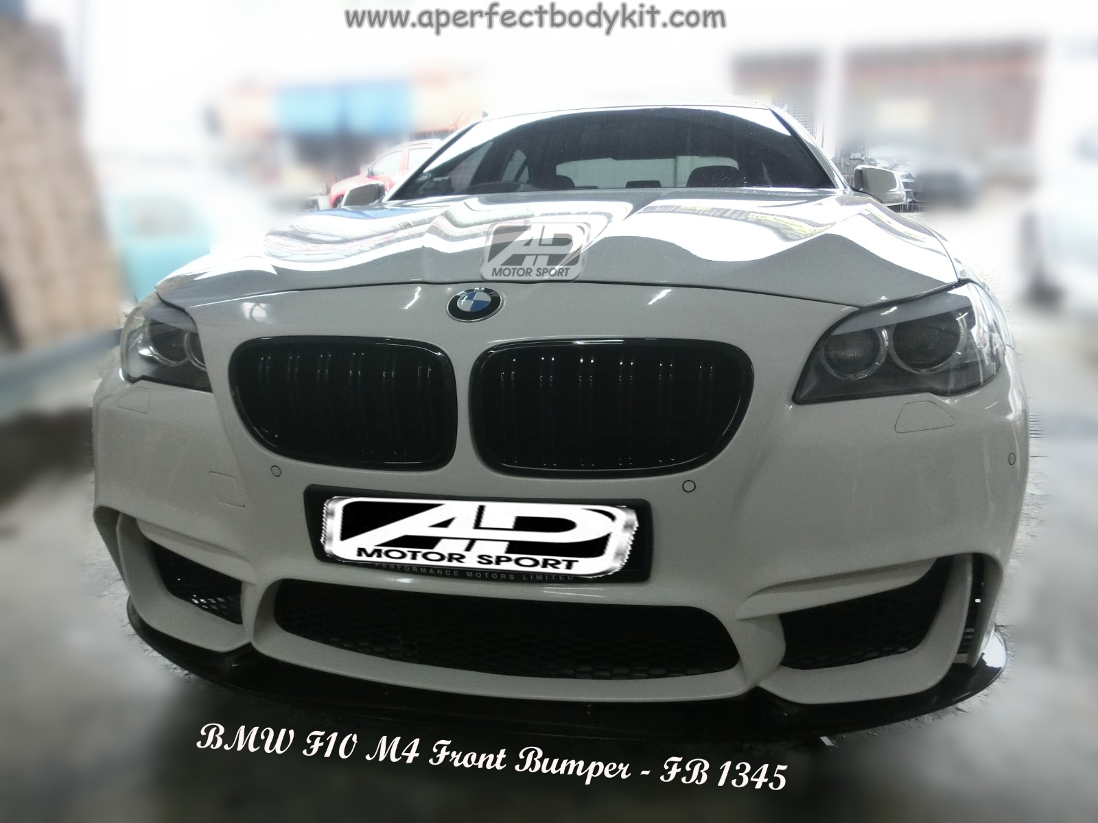 BMW 5 Series F10 M4 Front Bumper + Front Lip
