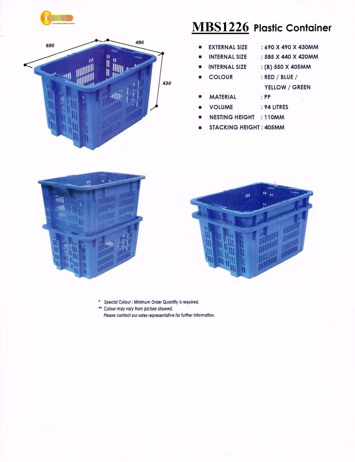 Plastic Container  MBS1226