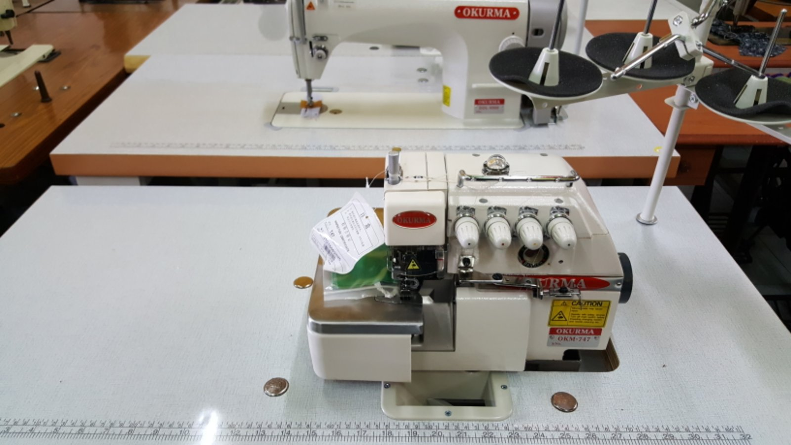 One Set Okurma Hi Speed And Overlock Sewing Machine