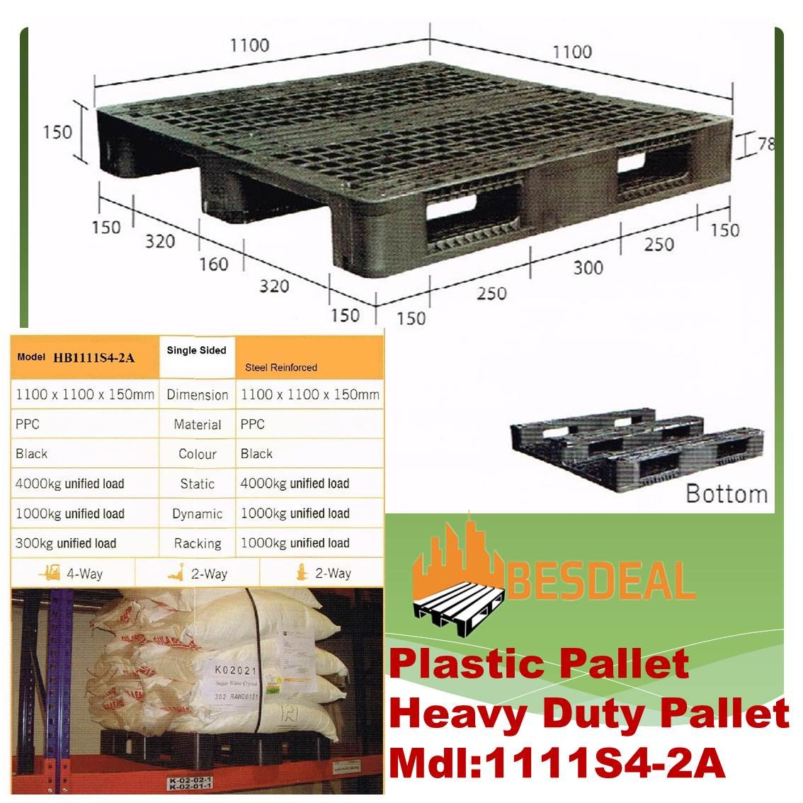 Heavy Duty Pallet, Mdl:1111S4-2A  For Sales Now!