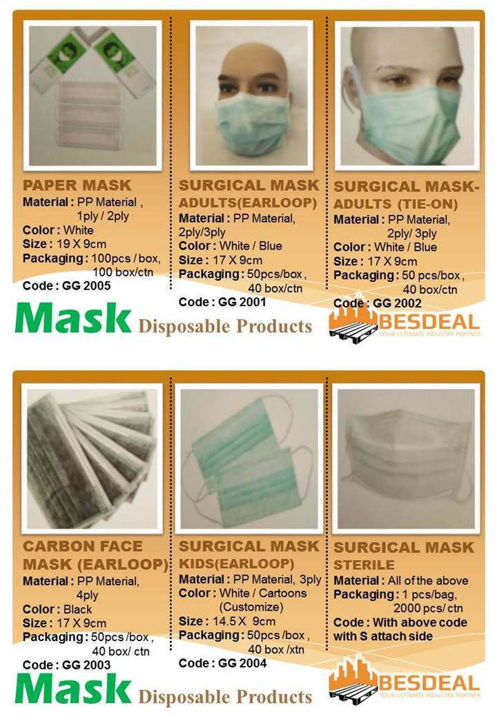 Disposable Products-Mask On Sales Now!!