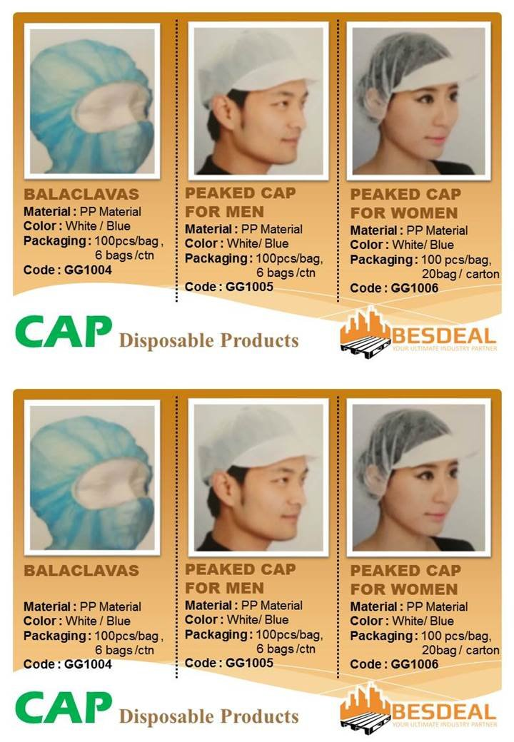 Disposable Product Cap Sales Now!!