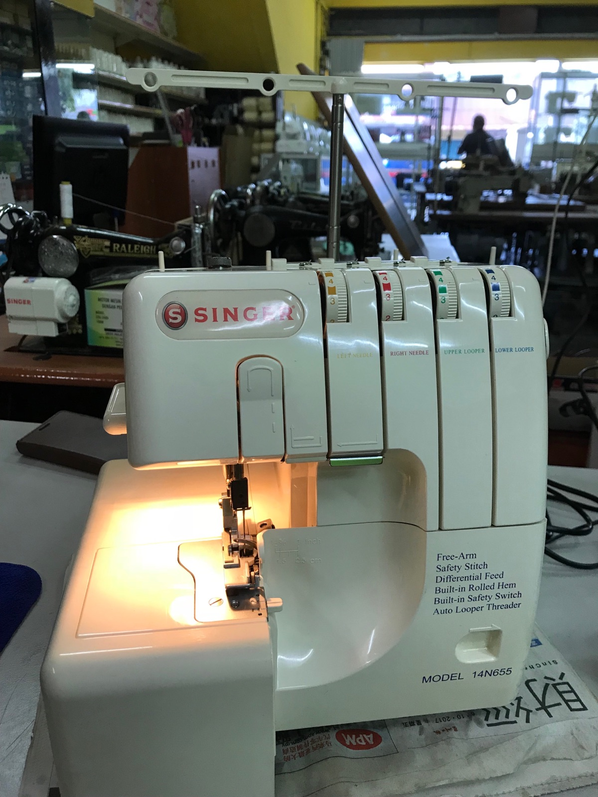 New Portable Overlock Sewing Machine