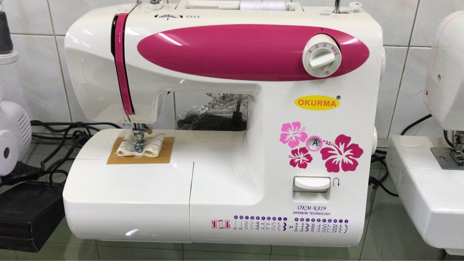 Okurma Portable Zoe Zig Sewing Machine
