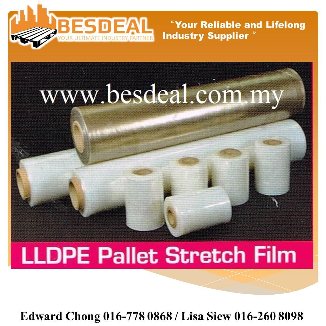 LLDPE Pallet Stretch Film On Sales Now!!