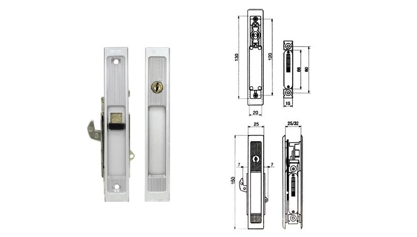 4420  Sliding Door Lock