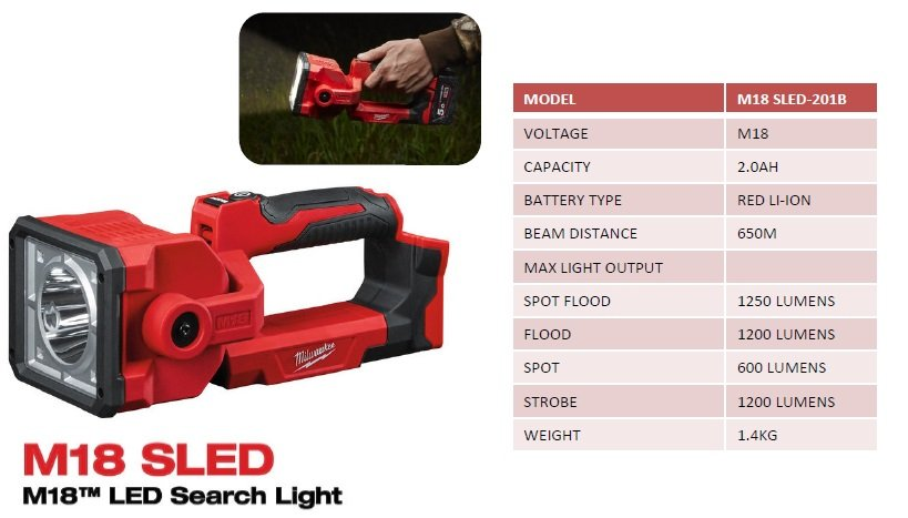 M18 SLED  LED Search Light