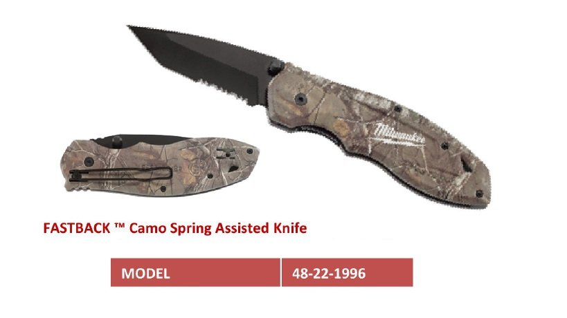 48-22-1996  Camo Spring Assisted Knife