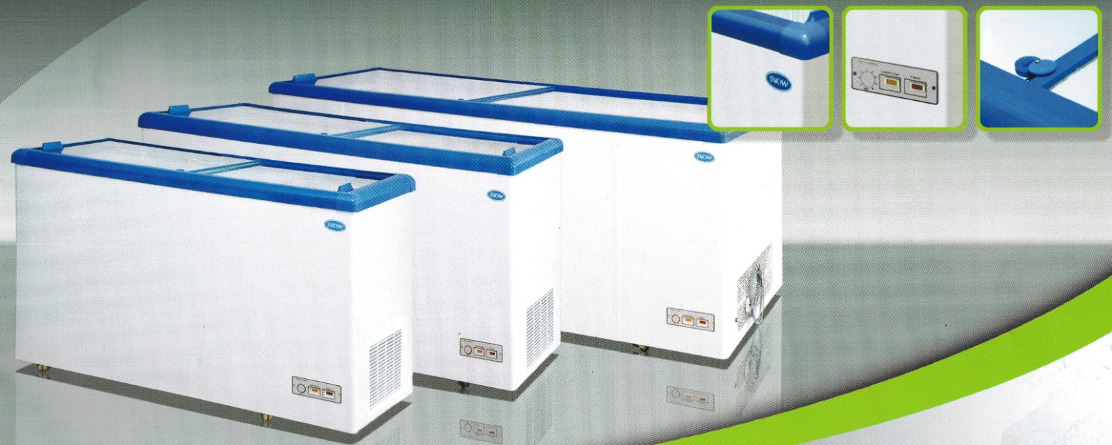 Snow Chest Freezer (Flat Glass Lid Series)