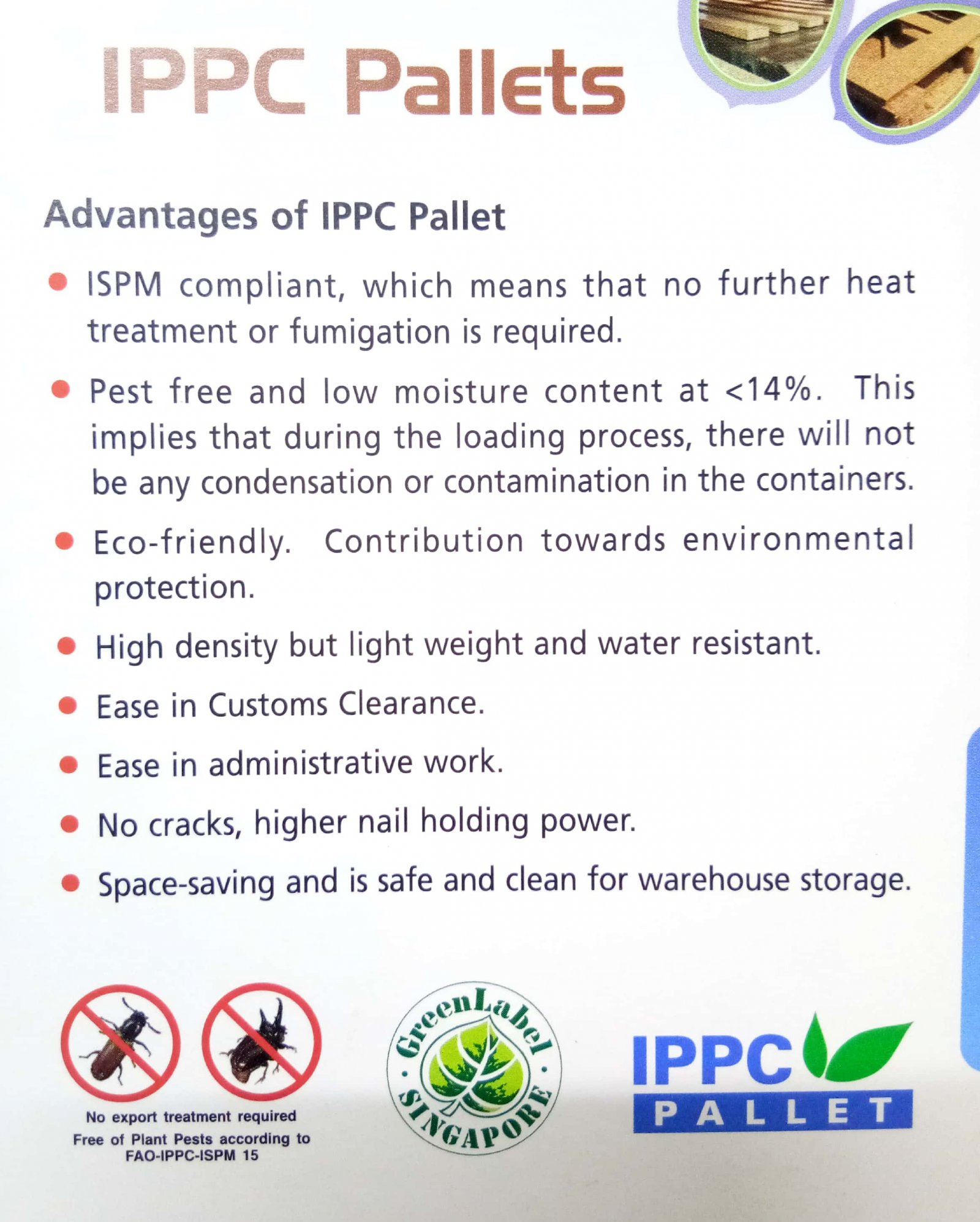 Advantages of IPPC Pallet