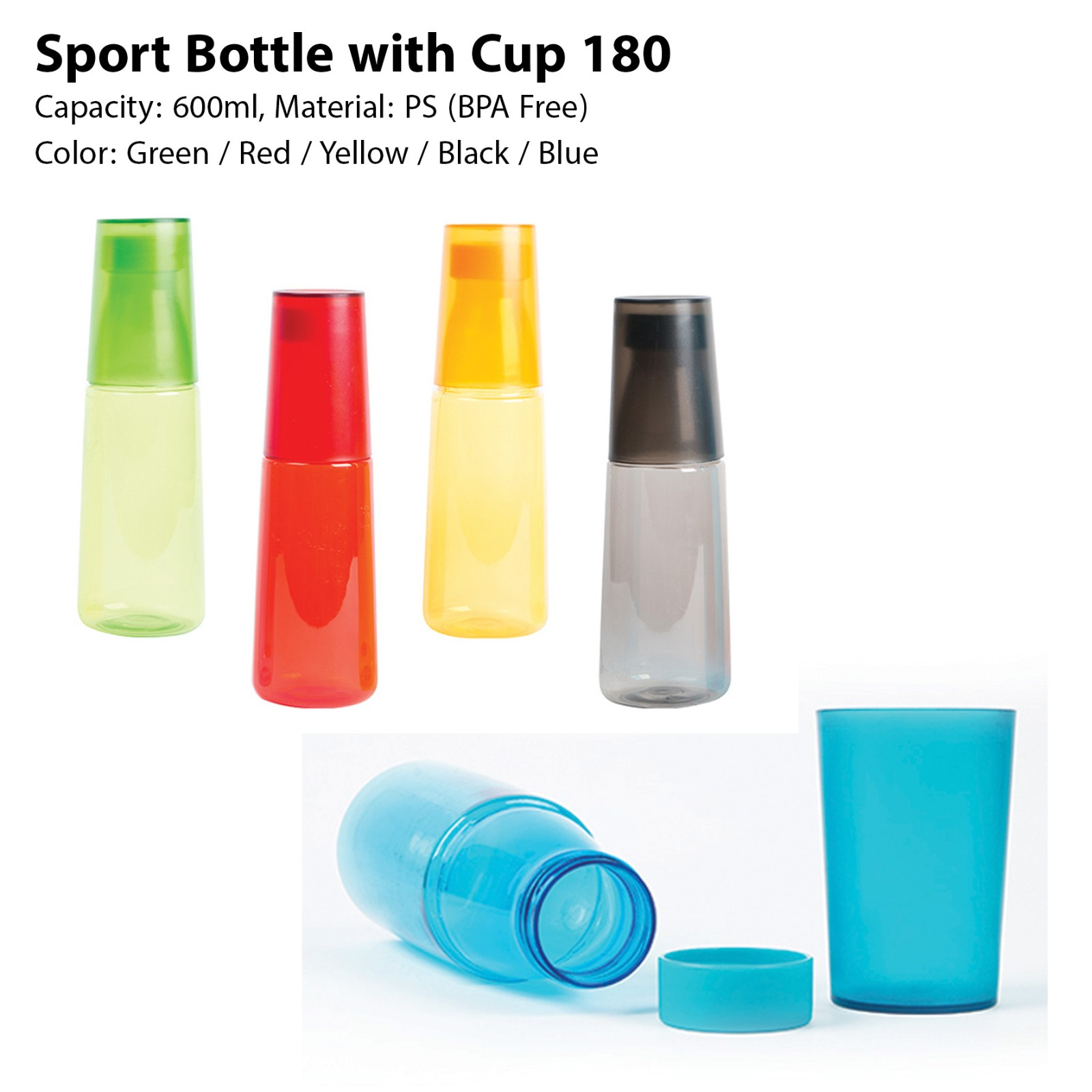 Sport Bottle with Cup 180