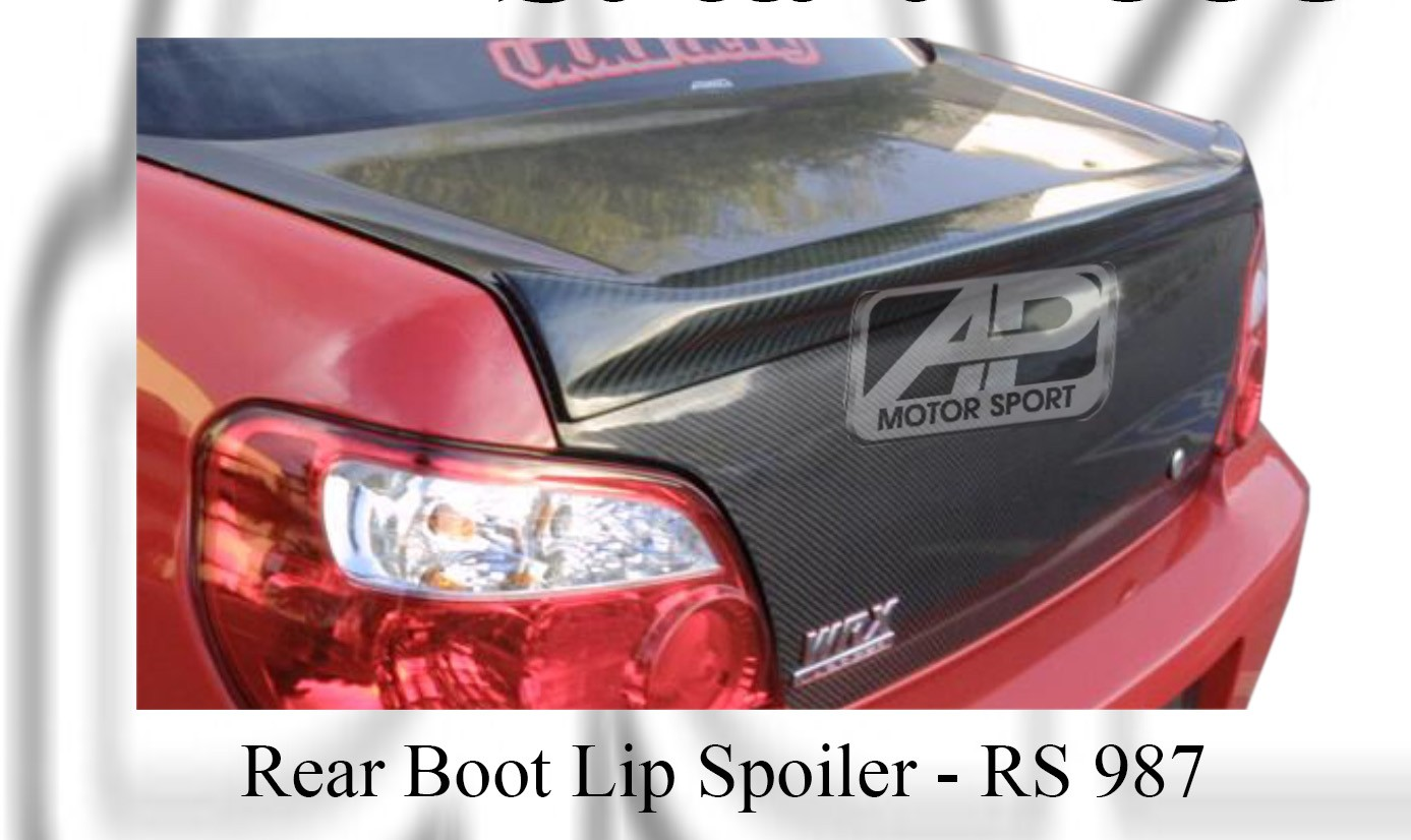Subaru V9 2006 Rear Boot Lip Spoiler