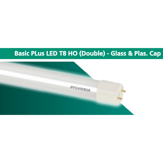 SYLVANIA Basic PLus LED T8 HO - Glass & Plas. Cap - Dayl