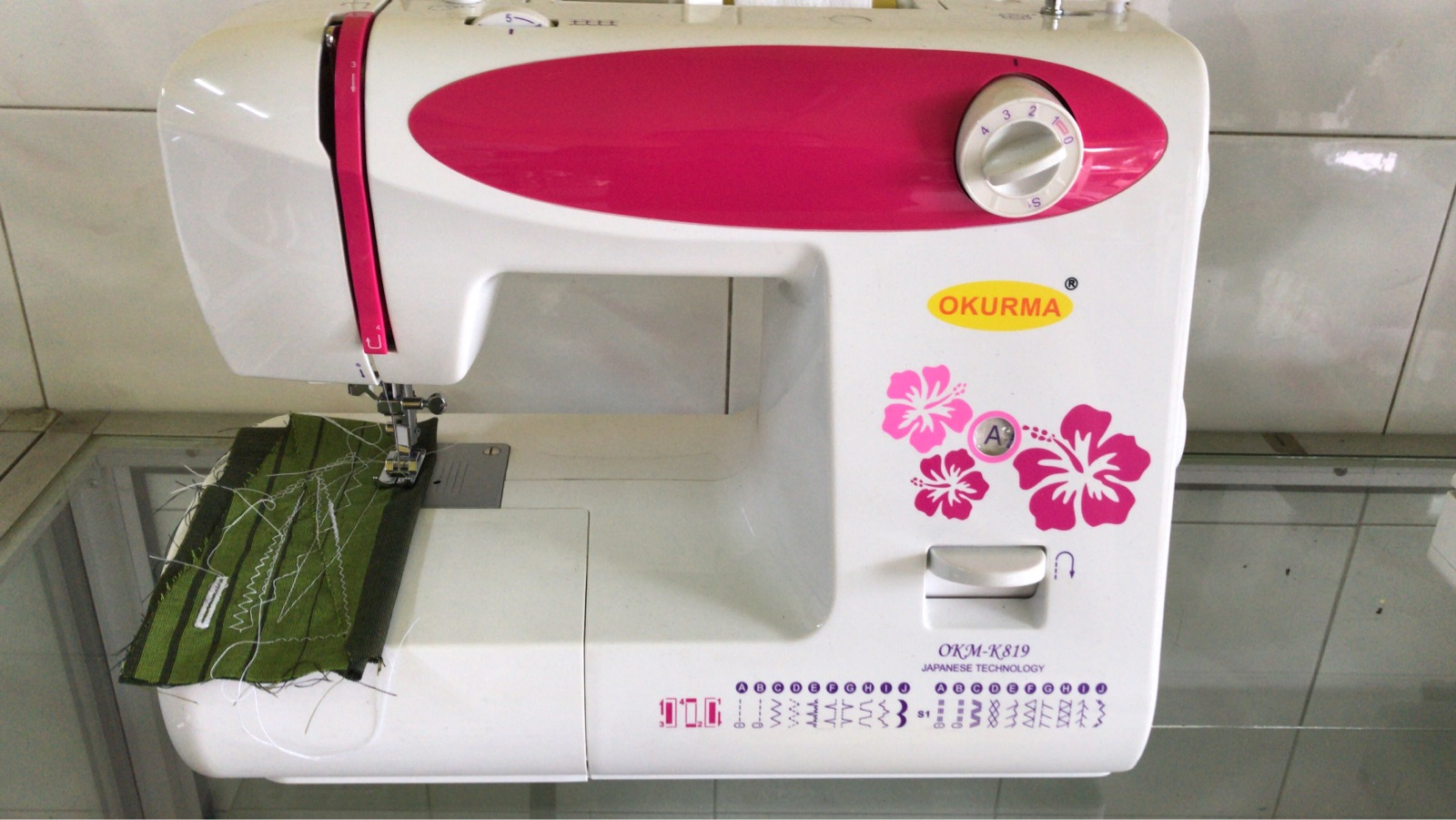 New Okurma Portable Zie Zig Sewing Machine