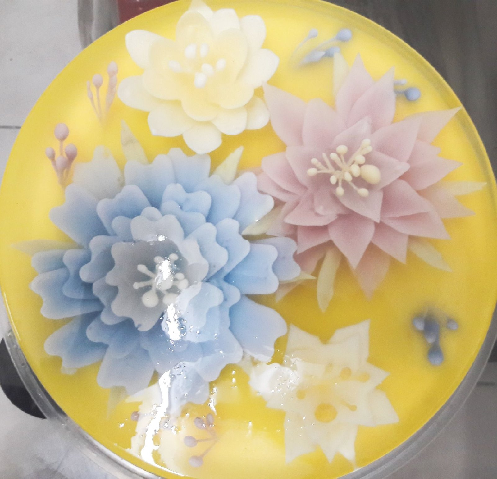 3d flower jelly