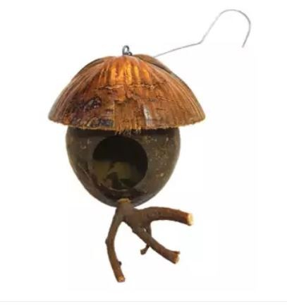 BA-3081 COCONUT HUT HOUSE FOR BIRD, SUGAR GLIDER AND SMALL A